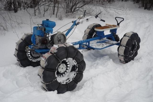 Как самостоятельно сделать вездеход или снегоход на основе мотоблока