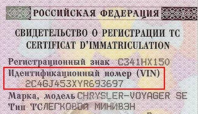 найти машину по вин коду - vin код