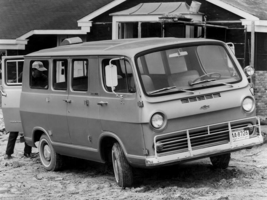 Chevrolet Chevy Van Sportvan микроавтобус, 1964–1966, 1 поколение - отзывы, фото и характеристики на Car.ru