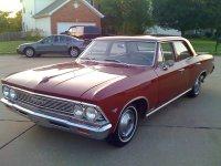 Chevrolet Chevelle, 1 поколение [2-й рестайлинг], Седан 4-дв., 1966
