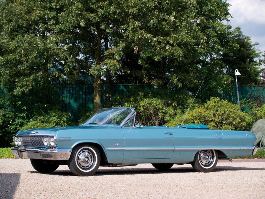 Chevrolet Impala кабриолет, 1963, 3 поколение [2-й рестайлинг] - отзывы, фото и характеристики на Car.ru