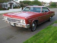 Chevrolet Impala, 1966, 4 поколение [рестайлинг], Хардтоп