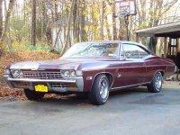 Chevrolet Impala, 4 поколение [3-й рестайлинг], Купе 2-дв., 1968