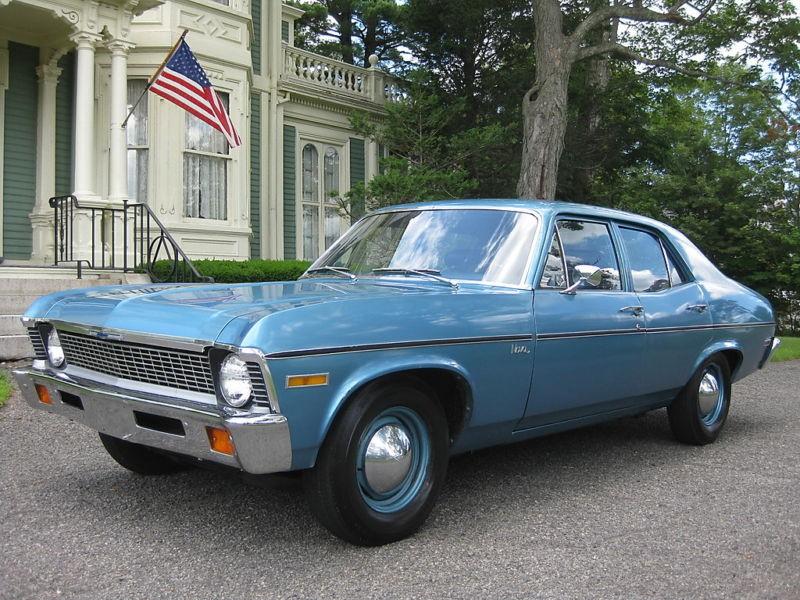 Chevrolet Nova седан, 1970–1972, 3 поколение [2-й рестайлинг] - отзывы, фото и характеристики на Car.ru