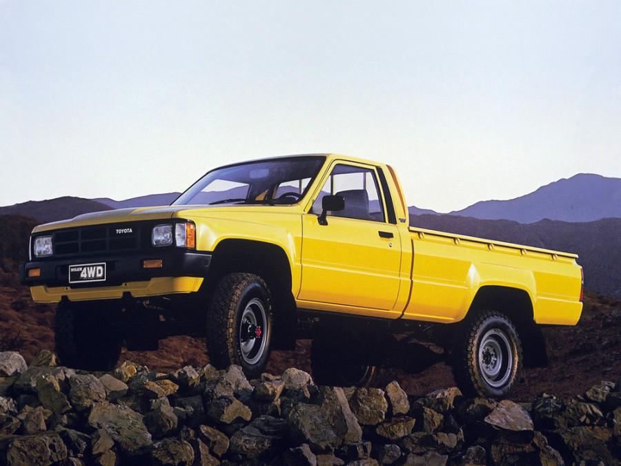 Toyota Hilux пикап 2-дв., 1983–1988, 4 поколение - отзывы, фото и характеристики на Car.ru