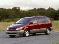 Toyota Sienna, 1 поколение [рестайлинг], Минивэн, 2001–2003