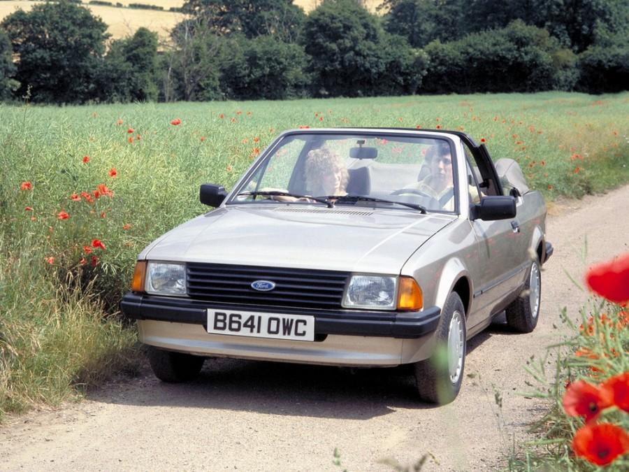 Ford Escort кабриолет 2-дв., 1980–1986, 3 поколение - отзывы, фото и характеристики на Car.ru