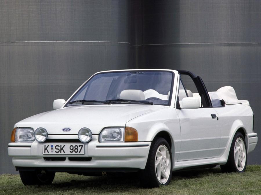 Ford Escort кабриолет, 1986–1995, 4 поколение - отзывы, фото и характеристики на Car.ru