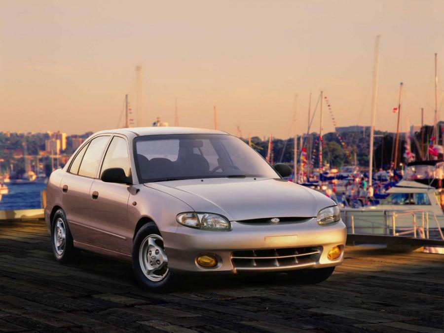 Hyundai Accent седан, 1997–1999, X3 [рестайлинг] - отзывы, фото и характеристики на Car.ru