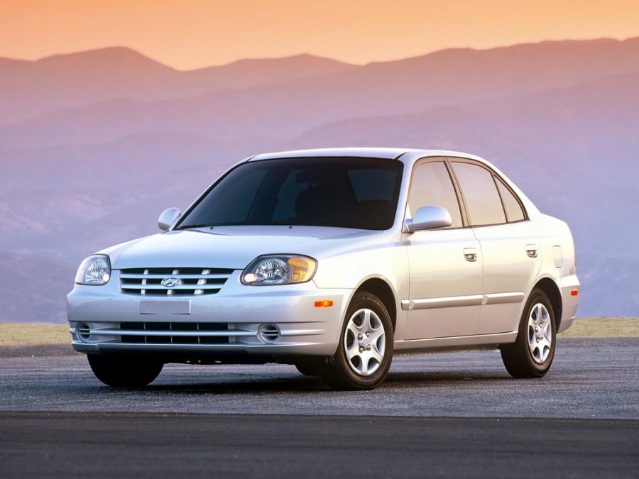 Hyundai Accent седан, 2002–2006, LC [рестайлинг] - отзывы, фото и характеристики на Car.ru