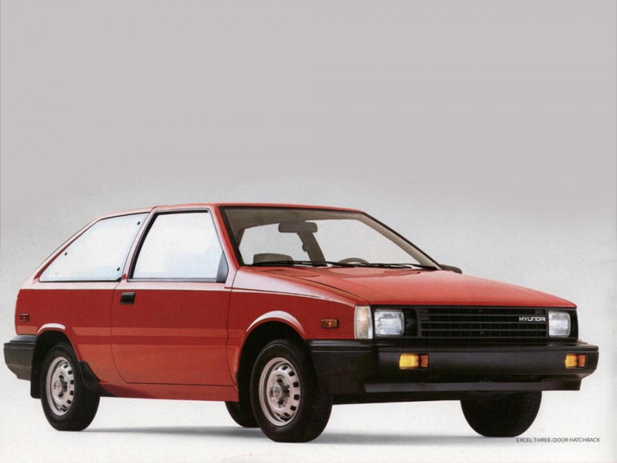 Hyundai Excel хетчбэк 3-дв., 1985–1989, X1 - отзывы, фото и характеристики на Car.ru