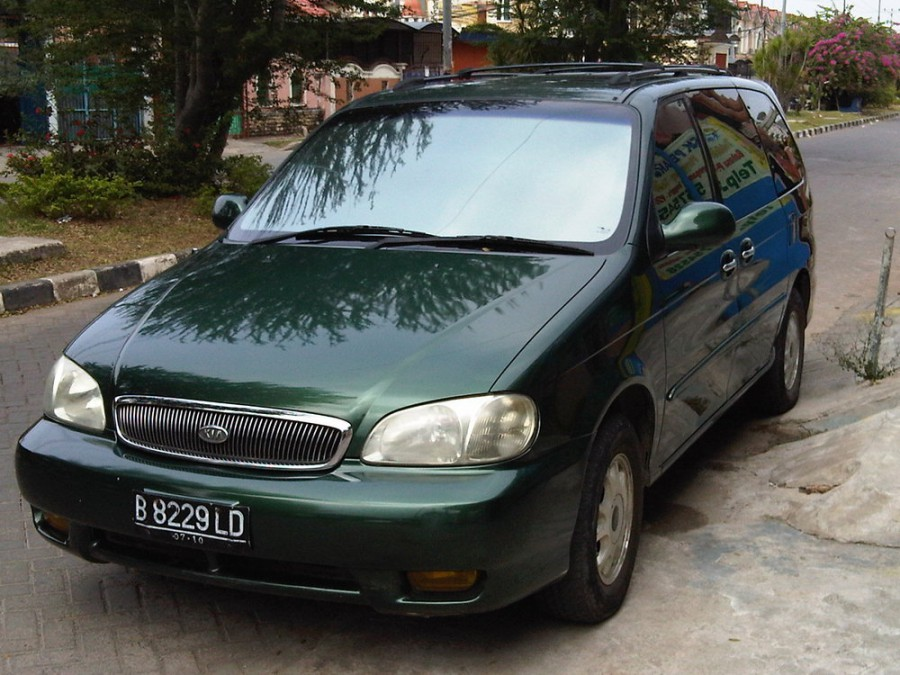 Kia Carnival минивэн, 1999–2002, 1 поколение - отзывы, фото и характеристики на Car.ru
