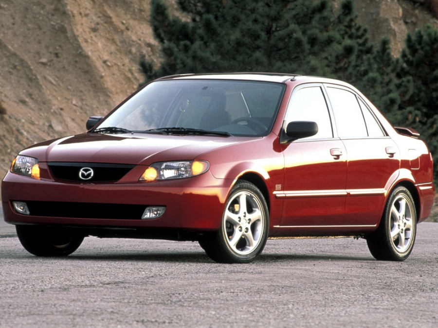 Mazda Protege седан, 2000–2003, BJ [рестайлинг] - отзывы, фото и характеристики на Car.ru