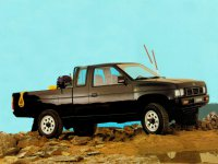 Nissan Pick UP, D21 [рестайлинг], King cab пикап 2-дв., 1992–1997