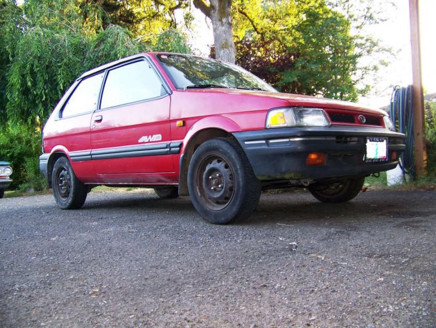 Subaru Justy хетчбэк 3-дв., 1989–1994, 1 (KAD) [рестайлинг] - отзывы, фото и характеристики на Car.ru
