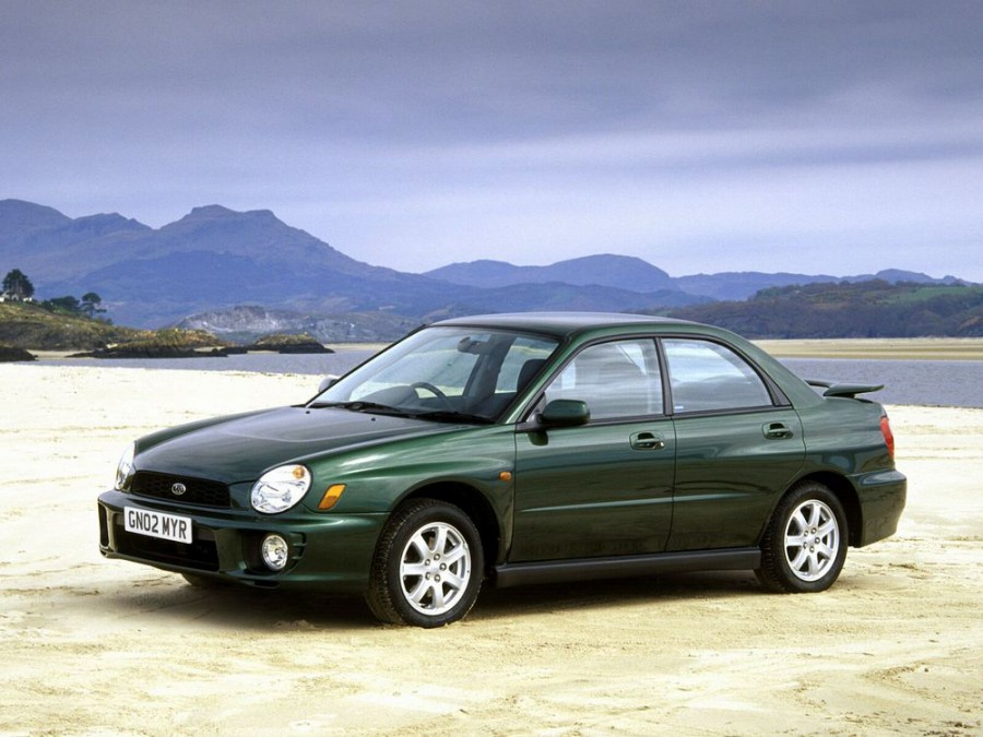 Subaru Impreza седан, 2000–2002, 2 поколение - отзывы, фото и характеристики на Car.ru