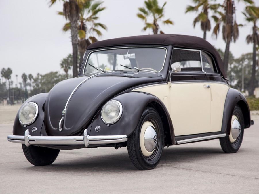 Volkswagen Beetle кабриолет, 1946–1953, 1 поколение - отзывы, фото и характеристики на Car.ru