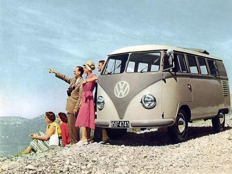 Volkswagen Transporter Kombi микроавтобус 5-дв., 1950–1967, T1 - отзывы, фото и характеристики на Car.ru