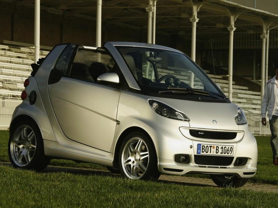 Smart Fortwo Brabus кабриолет 2-дв., 2007–2010, 2 поколение - отзывы, фото и характеристики на Car.ru