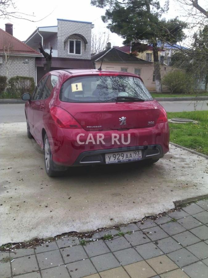 Peugeot 308, Анапа