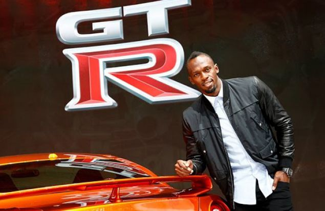 Усейн Болт и Nissan GT-R