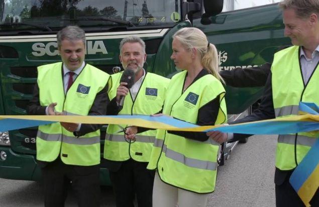 «Рогатый» тягач Scania открывает «электрическую дорогу»