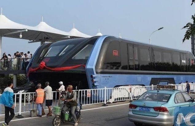 TEB-1 — суперавтобус. Реальный запуск.