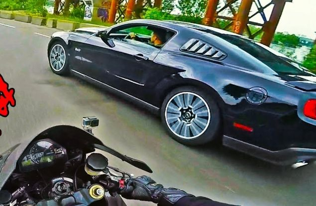 ЗАРУБА С МУСТАНГОМ | Ford Mustang GT vs Honda Fireblade