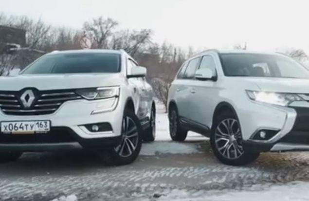Renault Koleos или Mitsubishi Outlander: Кто Застрянет Первый? Тест-Драйв Сравнение Игорь Бурцев