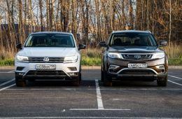 Geely Atlas  против Volkswagen Tiguan: тест обзор