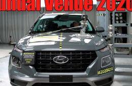 Кроссовер Hyundai Venue 2020 Новый краш тест